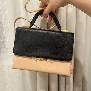 Ted Baker Nude & Black handbag with gold hardware